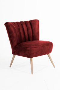 Max Winzer Alessandro Sessel - Farbe: rot - Maße: 70 cm x 66 cm x 80 cm; 2877-1100-2078123-F01