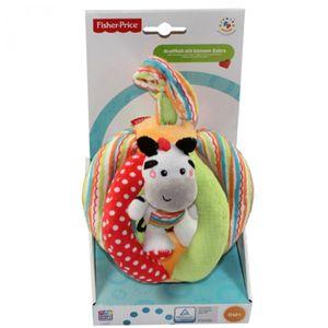 Happy People 40856 Fisher Price Greifball mit Zebra Stoff Kinder Spielzeug Baby