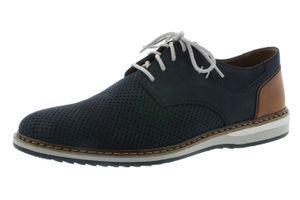 rieker Herren Schnürschuhe Blau Schuhe, Größe:43