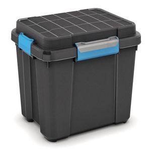 KIS Kunststoffbox Scuba Box M Schwarz / Grau / Blau 43 L