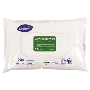 Diversey Oxivir® Excel Wipes  Desinfektionstücher  - 100 Tücher / Flowpack - viruzid - Powered by AHP® Technology