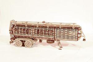 Wood Trick - Holz Modellbau Tank Trailer Tankfahrzeug Big Rig Anhänger 200 Teile
