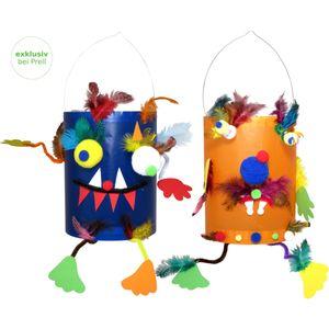 Laternen Bastelset Monsterchen vorgedruckt, 10 Stück