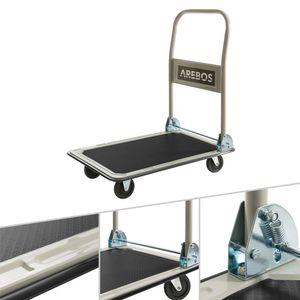 AREBOS Plattformwagen Transportwagen Handwagen Transportkarre Wagen 150 kg - direkt vom Hersteller