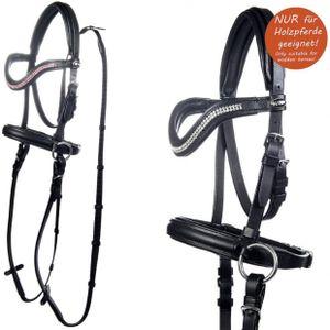 HKM Gebisslose Trense -Funny Horses- für Holzpferde, Farbe:9100 schwarz, Größe:Mini Shetty