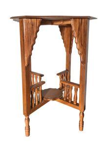 Opiumtisch Telefontisch Beistelltisch Tisch Variabel Asia Möbel Thailand Holz 73x49CM HB