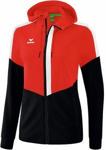 Erima Squad Trainingsjacke mit Kapuze rot/schwarz/weiß Damen
