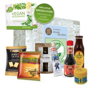 Vegane Weltreise außergewöhnliche Geschenk Box | Vegane Lebensmittel aus aller Welt | Vegane Leckereien ideal für Veganer | Für vegane Ernährung