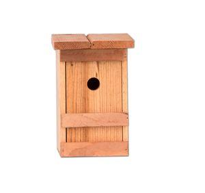 2x Nistkasten Meisen Meisennistkasten Nistkästen Vogelhaus Vogelhäußchen Massivholz 25x14,5x12 cm