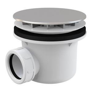 Ablaufgarnitur Duschablauf mit Siphon ø85-90mm Ablaufbohrung Abdeckung verchromt ø116mm, Zubehör:ohne Ablaufzubehör