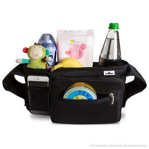 Bergsteiger Kinderwagen Organizer Plus, abnehmbare Zusatztasche, Smartphone-Extrafach, zwei isolierte Getränkehalter, für alle Kinderwagen und Buggy, Bergsteiger Kinderwagen-Zubehör