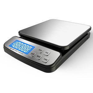 Theo&Cleo Digitale Küchenwaage, Digitale Küchenwaage, Haushaltwaage, für max 50kg, Präzision auf bis zu 1gr, mit eingebautem Digital-Display