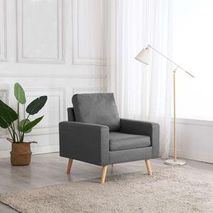 【Neu】Sessel Sessel Hellgrau Stoff Gesamtgröße:77 x 71 x 80 cm BEST SELLER-Möbel-Stühle-Sessel im Landhaus-Stil