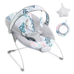 Babywippe mit Musik und Vibration Babywiege Schaukelwippe Baby Schaukel verstellbar, Babyliegestuhl Baby Schlafkorb Babysitz MoMi Liss Blätter