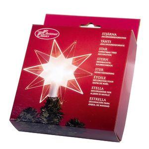 "Best Season Baumspitze ""Top Star Clear"" beleuchtet Material: Kunststoff, Farbe transparent, 089-96"
