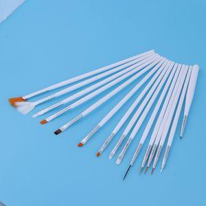 15 x Pinsel Künstlerpinsel Pinselset für Acrylfarben Ölmalerei  Malpinsel