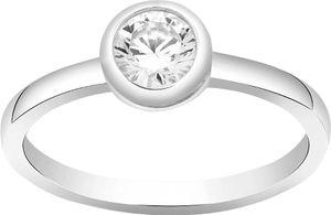 JOANLI NOR 145903 Solitär Ring Amy Sterling Silber 925 Swarovski Kristall facettiert rhodiniert  1