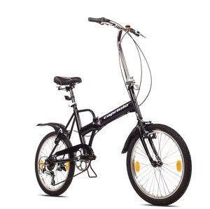 breluxx® 20 Zoll Travel Faltrad, Camping Klapprad, Shimano 6 Gang + Beleuchtung