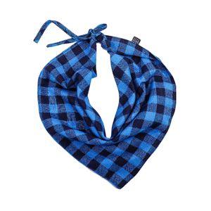 Haustier Hund Bandana Halsband Halstuch Dreieck Plaid Speichel Handtuch Katzenzubehör 60x30cm Blau Kragen im Bandana-Stil