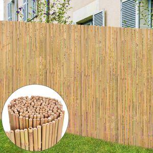 Hommie⭐Sichtschutzmatte/Bambusmatte/Bambuszaun, für Garten, 300 x 125 cm