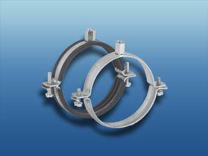 Lüftungsschelle verzinkt : Ø 150 mit Schalldämmeinlage System: Ø 150 Ausführung: mit Schalldämmeinlage