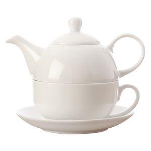 Maxwell & Williams White Basics Teeservice für 1 Person 3-tlg. Porzellan Weiß