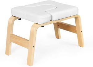 GOPLUS Yoga Kopfstandhocker, Inversion Stuhl mit EPE-Polster, Ergonomische Handstand Bank, aus Holz, Belastbar bis zu 200 kg, Trainingsstuhlzur Linderung von Müdigkeit, für Yoga und Gymnastik