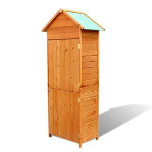 Gartenbox Kissenbox Auflagenbox Balkonbox Gartenschrank Braun 79×49×190 cm