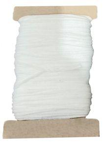 50 m Maskengummi Weiß 3 mm Kochfest, Rundgummi, Gummiband, Gummilitze, Hutgummi,  Versand aus DE