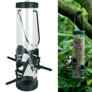 Vogelfutterstation zum aufhängen Vogelfutterspender hängend Vogelfuttersäule Vogel Futterstation Vögel Futterspender