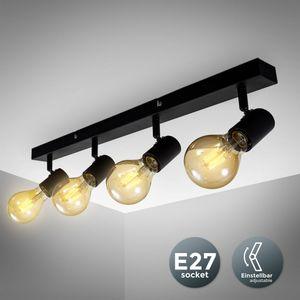 Vintage Deckenleuchte I Retro Deckenlampe exkl. 2x max. 60W E27 Leuchtmittel I Landhausstil Deckenstrahler B.K.Licht