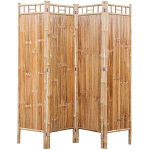 Bambus Paravent Raumteiler Trennwand Raumtrenner Paravent 4-teilig