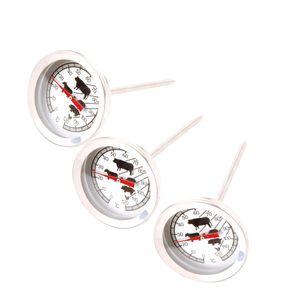 Fleischthermometer Bratenthermometer Grillthermometer Backofenthermometer analog Edelstahl rostfrei