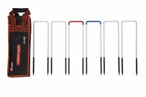 Krocket-Tore, 11 mm dicker Stahl, 6 Stück  Spitzenqualität