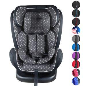 XOMAX XM-KI360 Auto Kindersitz mit 360° Drehfunktion und ISOFIX für Kinder von 0 - 36 kg (Klasse 0, I, II, III), Farbe:p-grey