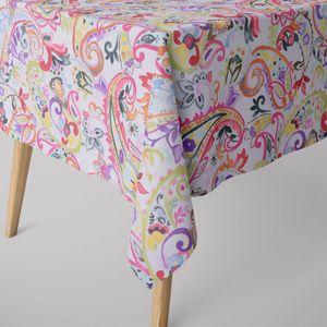 SCHÖNER LEBEN. Tischdecke Paisley weiß bunt verschiedene Größen, Tischdecken Größe:130x200cm