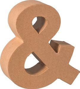 """KNORR prandell 3D-Buchstabe """"&"""" Pappmaché 175 x 55 mm"""