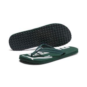 PUMA Epic Flip v2 Sandale Zehentrenner Kiefergrün-Weiss Schuhe, Größe:42
