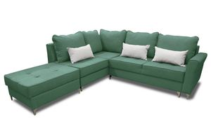 Ecksofa Grün mit Bettkasten HILTON für Zuhause! Best Neu Polstermöbel Schlafecke