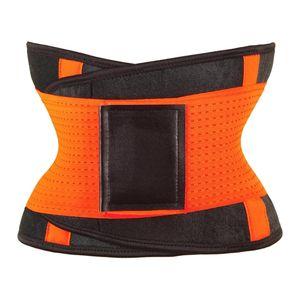 Damen Taillen-Trainer-Gürtel, Schweißgürtel Schwitzgürtel Taillengürtel Taille Cincher Body Shaper Gürtel für Gewichtsabnahme Fitness Training Größe Orange M