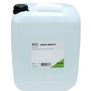 Medicalcorner24 Bidestilliertes Wasser AQUA BIDEST, Laborwasser, Reinst-Wasser, 10 Liter