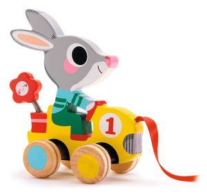Djeco Holzspielzeug Roulapic Hase zum Nachziehen