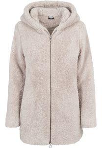 Urban Classics Damen Leichte Jacke Ladies Sherpa Jacket Sand-S