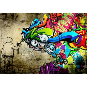 Graffiti 9066a RUNA Graffiti VLIES FOTOTAPETE XXL DEKORATION TAPETE− WANDDEKO 396 x 280 cm