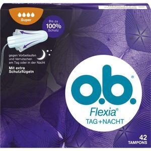 O.B. Flexia Super Plus Comfort Tampons Tag + Nacht 42 Stück