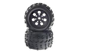 Amewi Monstertruck Kompletträder 1:8 schwarze Felge, 2 Stück