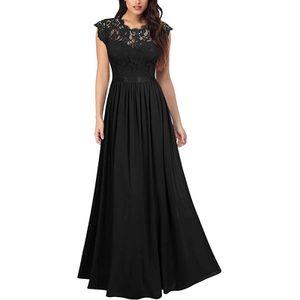 Damen y Partykleid Formales Langes Kleid,Farbe: Schwarz,Größe:M