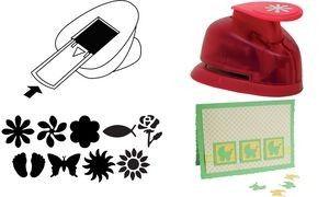 HEYDA Motiv-Locher Blüte, klein, Farbe: rot, Menge: 1 (Neu)