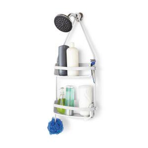 Umbra Flex Duschablage, Dusch Ablage, Duschregal, Duschdiener, Kunststoff / Gummi, Weiß, 32 cm, 023460-660