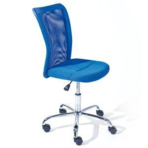 Drehstuhl Kinderstuhl Bürostuhl Bonnie blau Meshbezug höhenverstellbar